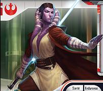 Portrait de Diala Passil, une Twi'lek violette, Jedi